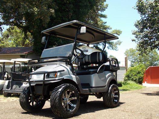 SoCal Silver Edition Club Car Precedent 48v Electric Golf Cart