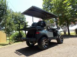Silver Metallic Lifted Golfer Edition Golf Cart