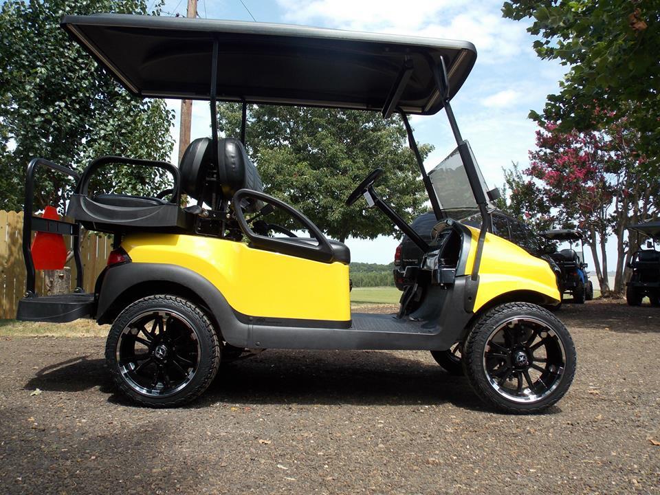 Black N Yellow Phantom Golf Cart