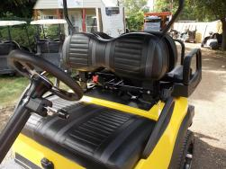 Black N Yellow Phantom Golf Cart