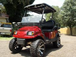 2011 Burgundy Metallic Phantom Golf Cart