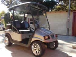 Silver Carbon Club Car Phantom Elite Golfer 48v Electric Golf Cart