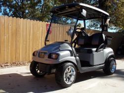 Silver Carbon Club Car Phantom Elite Golfer 48v Electric Golf Cart