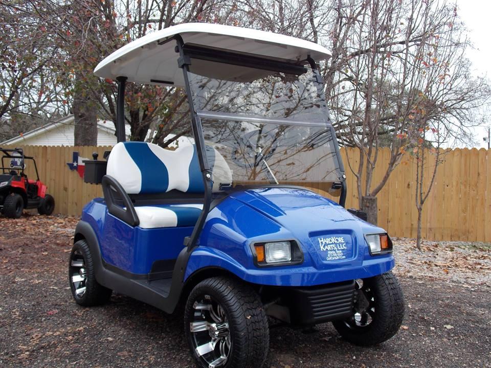 Blue Amp White Phantom Golf Cart