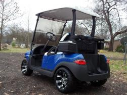 2011 Blue & White Phantom Club Car Precedent Electric 48v Golf Cart