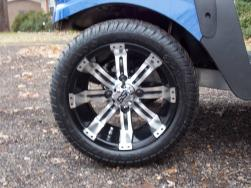 2011 Blue & White Phantom Club Car Precedent Electric 48v Golf Cart