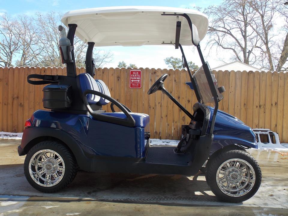 Navy Metallic & White Club Car Phantom Elite Golfer 48v Electric Golf ...
