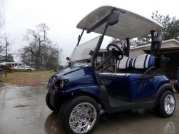 Navy Metallic & White Club Car Phantom Elite Golfer 48v Electric Golf Cart