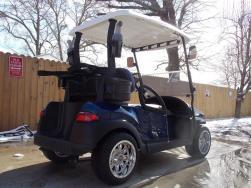 Navy Metallic & White Club Car Phantom Elite Golfer 48v Electric Golf Cart