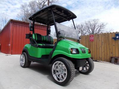 Lime Green Rock N Club Car Phantom Elite Golfer 48v Electric Golf Cart