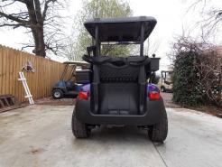 Purple Metallic Rock N Club Car Phantom Elite Golfer 48v Electric Golf Cart