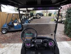 Purple Metallic Rock N Club Car Phantom Elite Golfer 48v Electric Golf Cart