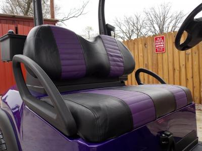 Purple Metallic Rock N Club Car Phantom Elite Golfer 48v Electric Golf CartPurple Metallic Rock N Club Car Phantom Elite