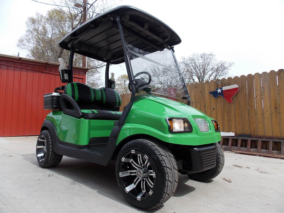 Basic Lime Green Club Car Phantom Elite Golf Cart
