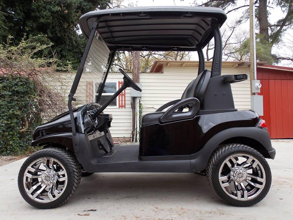 Black Chrome Rock N Club Car Phantom Elite Golf Cart