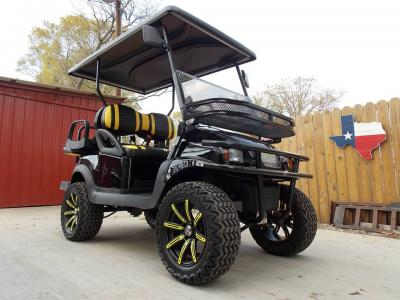 2011 Yellow Illusion Edition Phantom Club Car Precedent 48V Electric Golf Cart