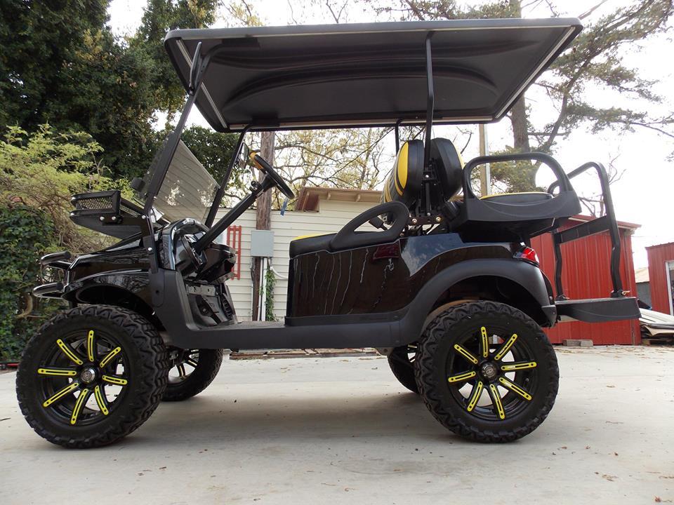 Club Car Golf Carts: Black & Yellow Phantom XT Club Car Golf Cart