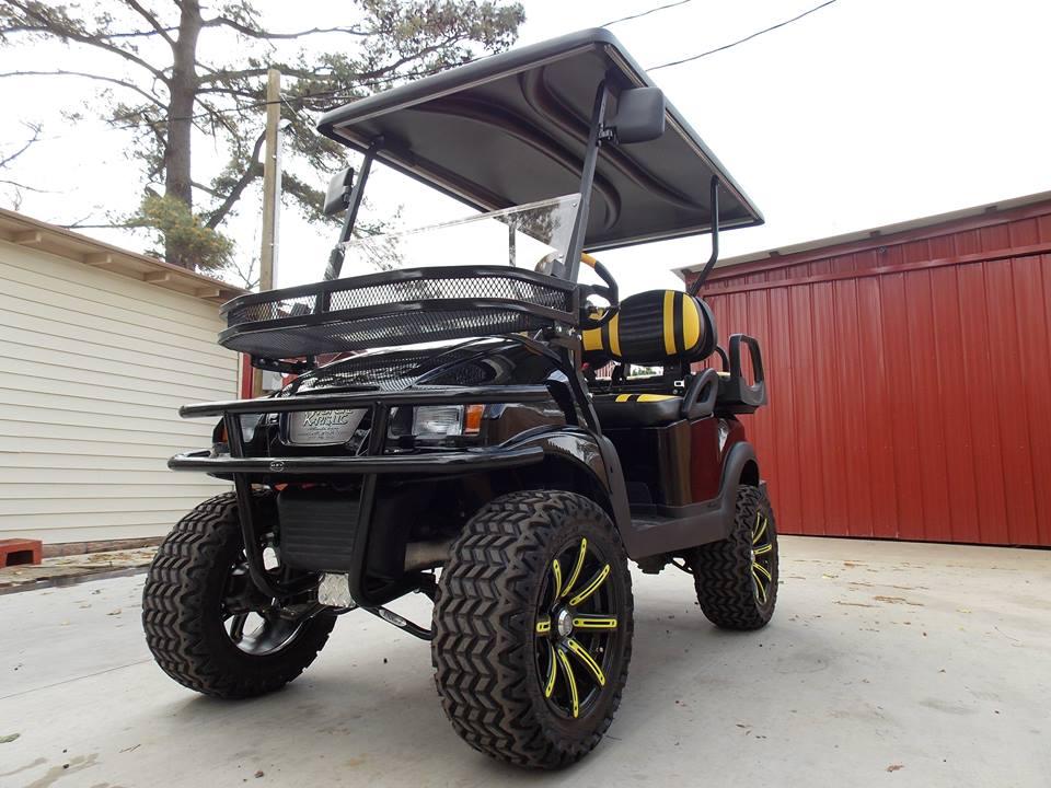 Black Yellow Phantom Xt Club Car Golf Cart