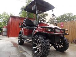 2011 Burgundy Metallic Phantom Street Club Car Precedent Electric 48v Golf Cart