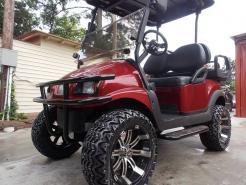 2011 Burgundy Metallic Phantom Street Club Car Precedent Electric 48v Golf Cart