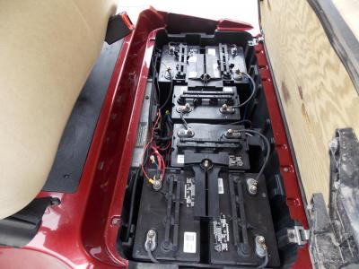2011 Burgundy Metallic Club Car Precedent Electric 48v Golf Cart