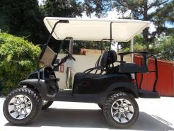 2011 White Tempest Edition Club Car Precedent Electric 48v Golf Cart