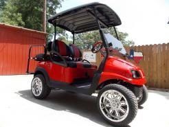 2011 Red Tech Edition Phantom Club Car Precedent 48v Electric Golf Cart