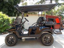 2012 GoBGo Carbon Edition Phantom Club Car Precedent 48v Electric Golf Cart