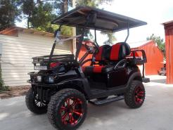 Touch of Red Edition Phantom Club Car Precedent 48v Electric Golf Cart