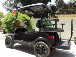 Black N Lime Green Rock N Phantom Elite Cruiser 48v Electric Golf Cart