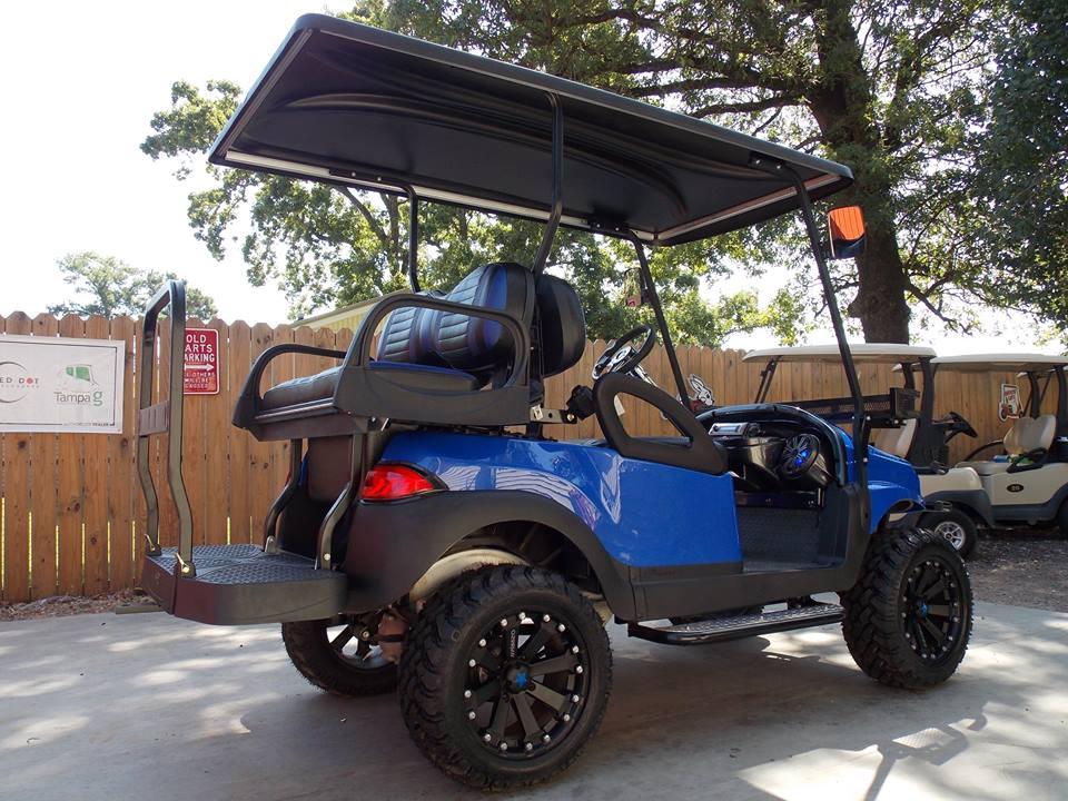 Royal Blue Phantom Xt Golf Cart