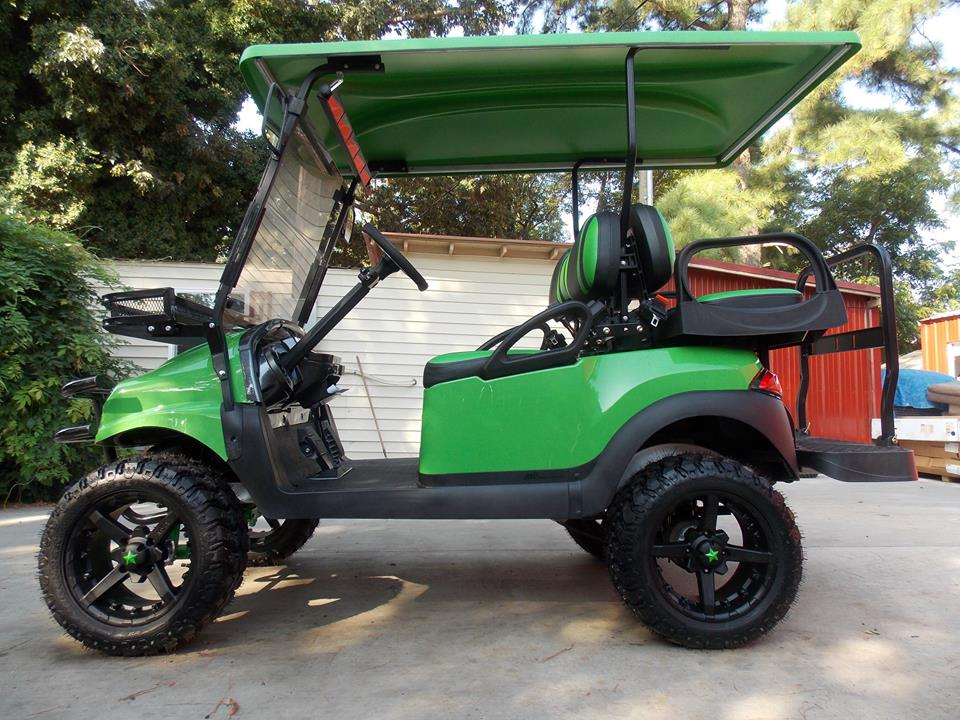 Lime Green Phantom Xt Golf Cart