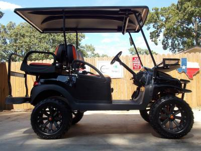 Black & Orange Phantom XT Club Car Precedent 48v Electric Golf Cart