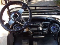 Black & Orange Phantom XT Club Car Precedent 48v Electric Golf Cart