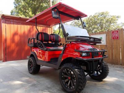 Red Kore Phantom XT Club Car Precedent 48v Electric Golf Cart