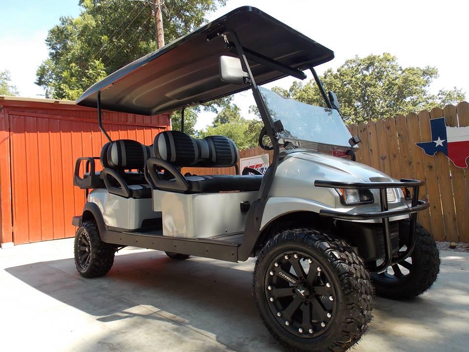 Black & Silver Phantom Elite Performance Series Golf Cart on