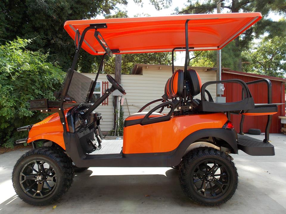 Orange Phantom Xt Golf Cart
