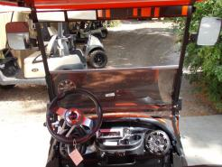 Orange Phantom XT Club Car Precedent 48v Electric Golf Cart