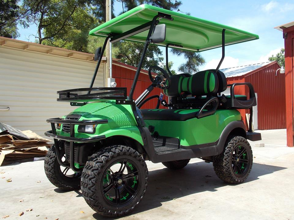 Lime Green Black Phantom Xt Golf Cart