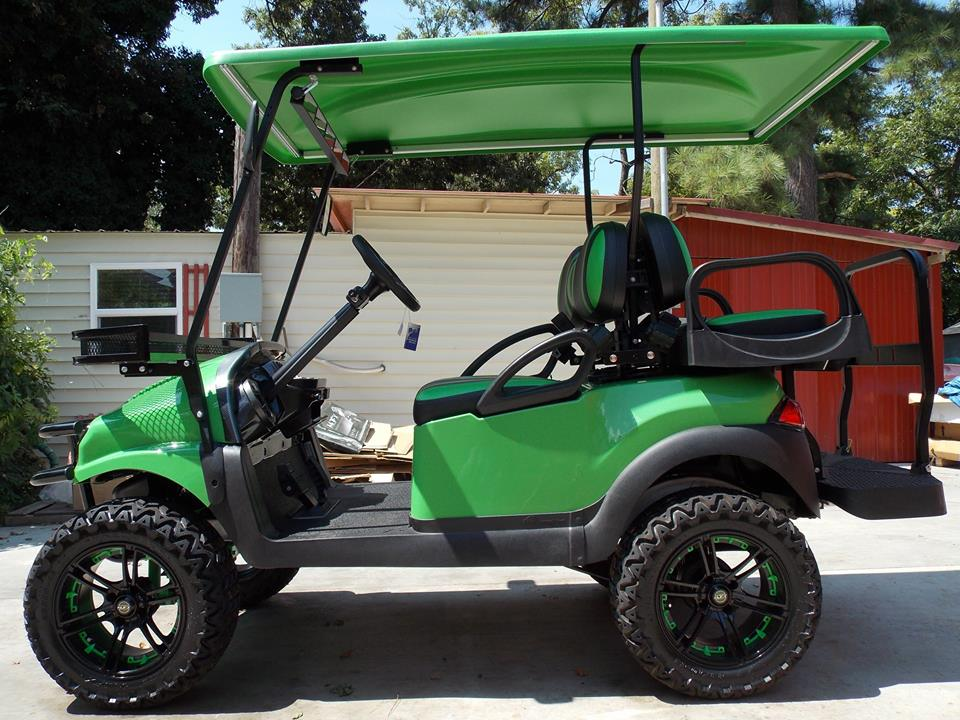 Lime Green & Black Phantom XT Golf Cart on e-z-go golf cart, stens golf cart, club car golf cart, franklin golf cart, orlimar golf cart,