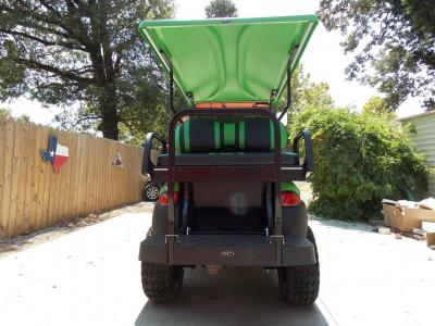 Lime Green & Black Phantom XT Club Car Precedent 48v Electric Golf Cart