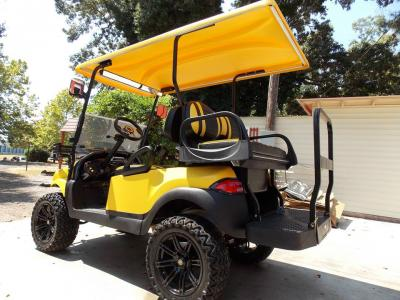 Yellow Phantom XT Club Car Precedent 48v Electric Golf Cart