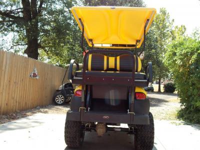 Yellow Phantom XT Club Car Precedent 48v Electric Golf Cart