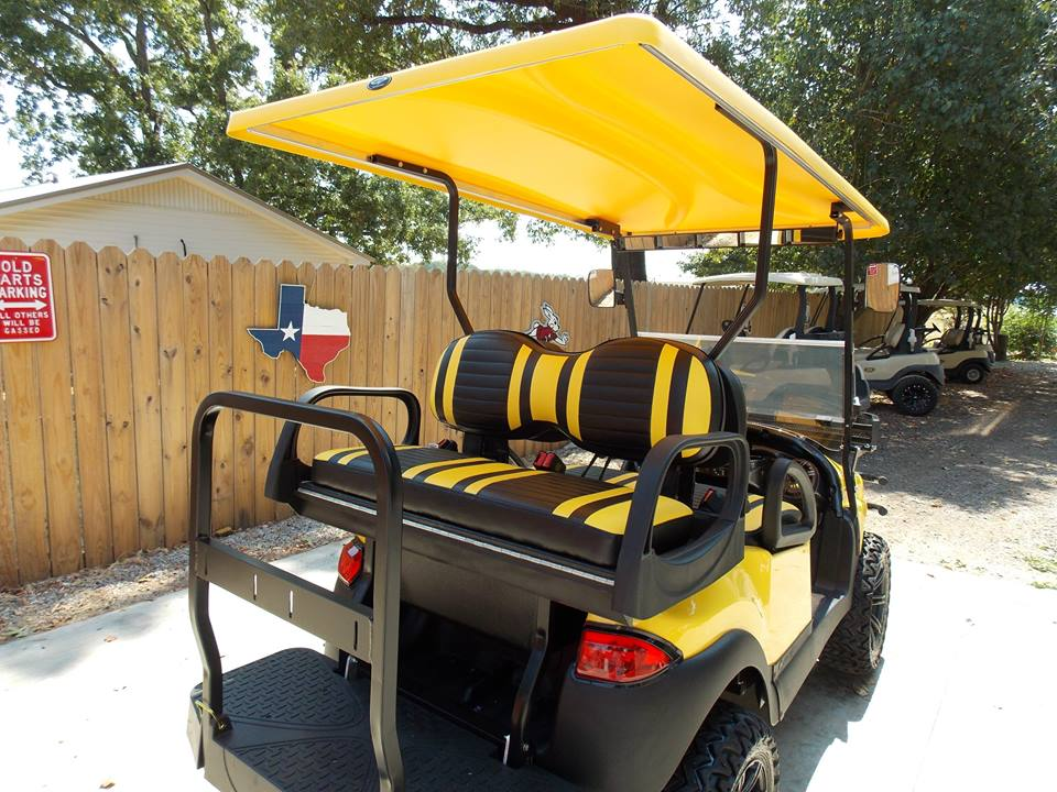 Yellow Phantom Xt Golf Cart Hardkore Customs