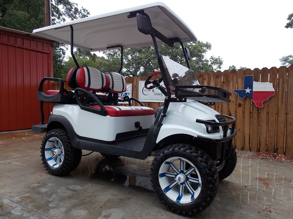 Street Legal Custom Lifted Golf Carts | Southern Sportz on custom golf cart seats, custom golf cart parts, custom golf cart body kits,