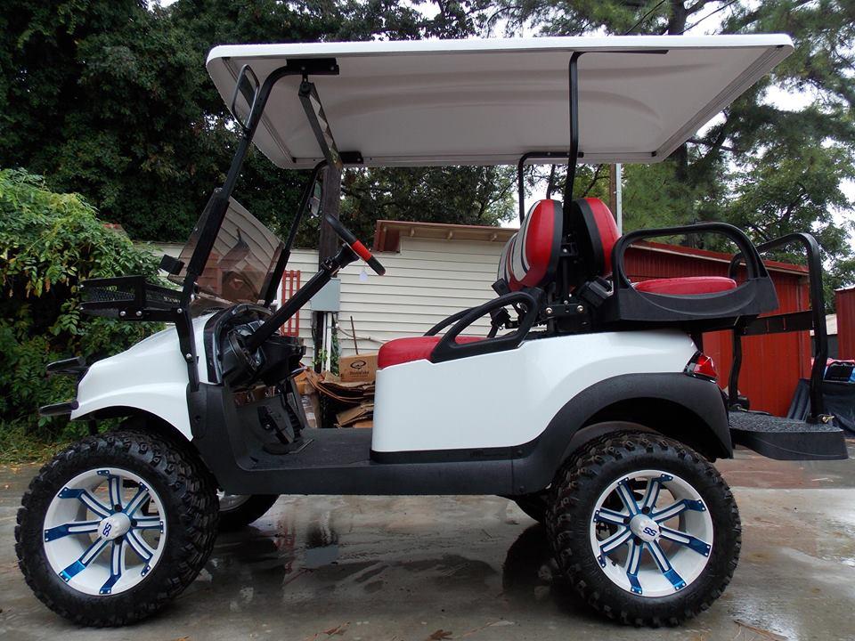 Red White Blue Phantom Xt Golf Cart