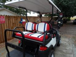 Red, White & Blue Phantom XT Club Car Precedent 48v Electric Golf Cart