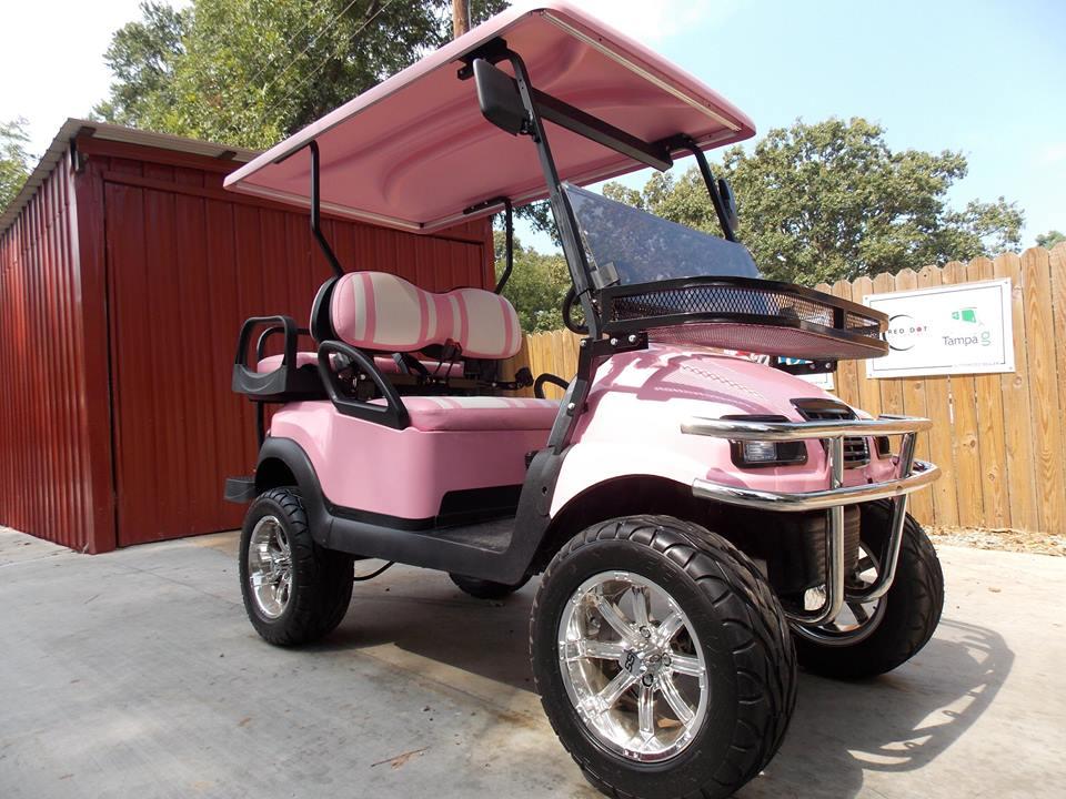 Princess pink phantom xt golf cart golf cart for Golf cart motors electric