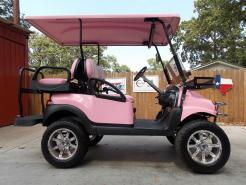 Princess Pink Phantom XT Club Car Precedent 48v Electric Golf Cart