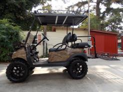 Brown & Black Hardwoods Phantom Hunter Club Car Precedent 48V Electric Lifted Golf